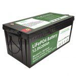 சூடான விற்பனை 2.56KWh lifepo4 batteri 12v 200Ah 6000 சுழற்சிகள் rv பேட்டரி